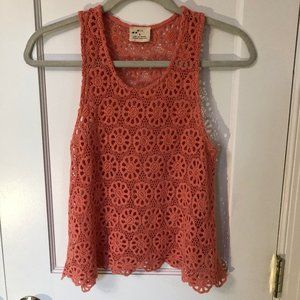 Pins & Needles see-through floral tank top size S